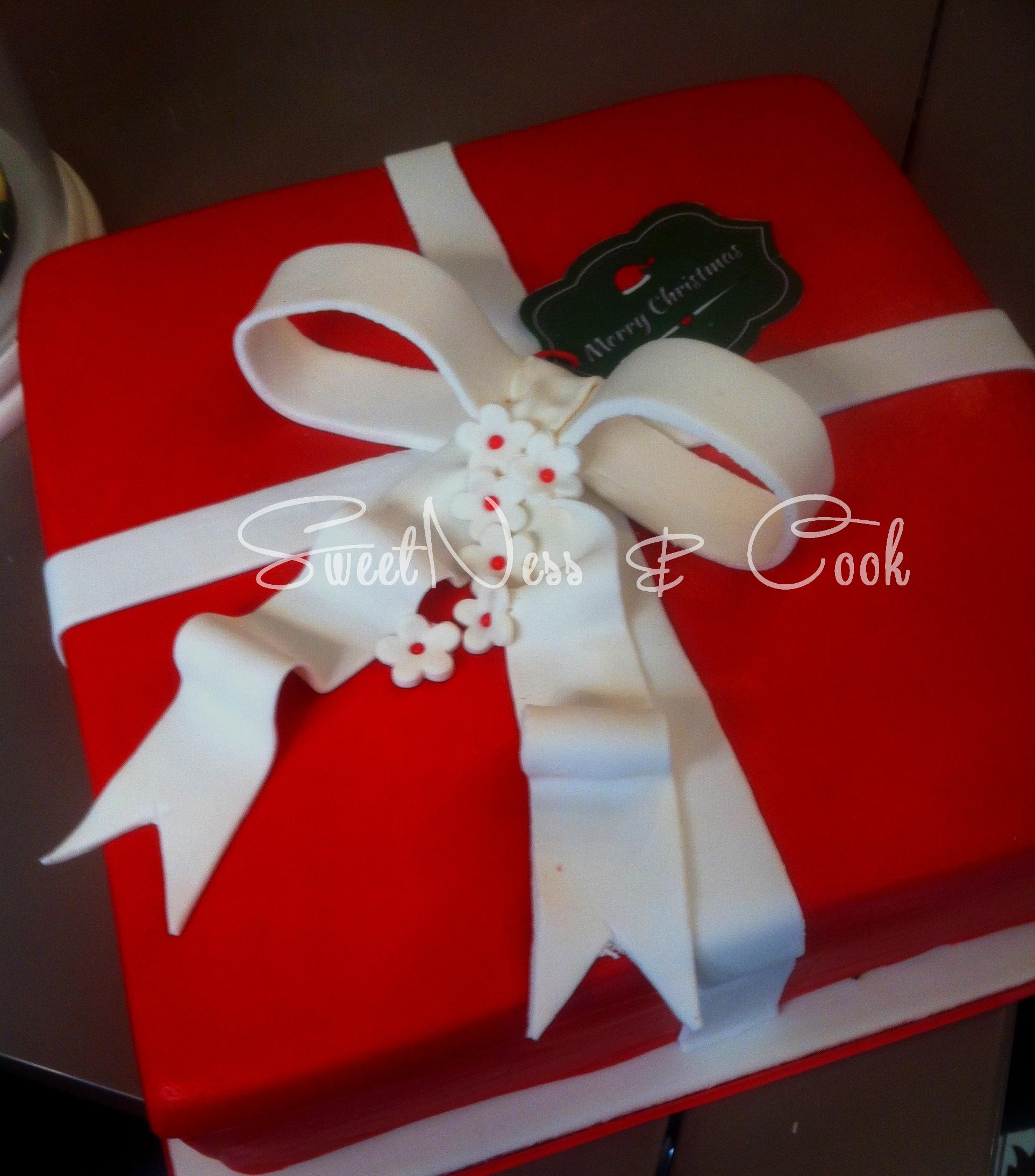 Cake Design paquet cadeau