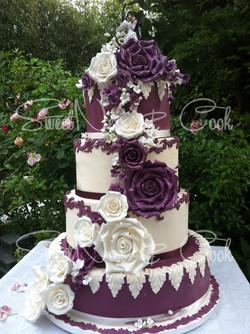 Wedding Cake prune et crème