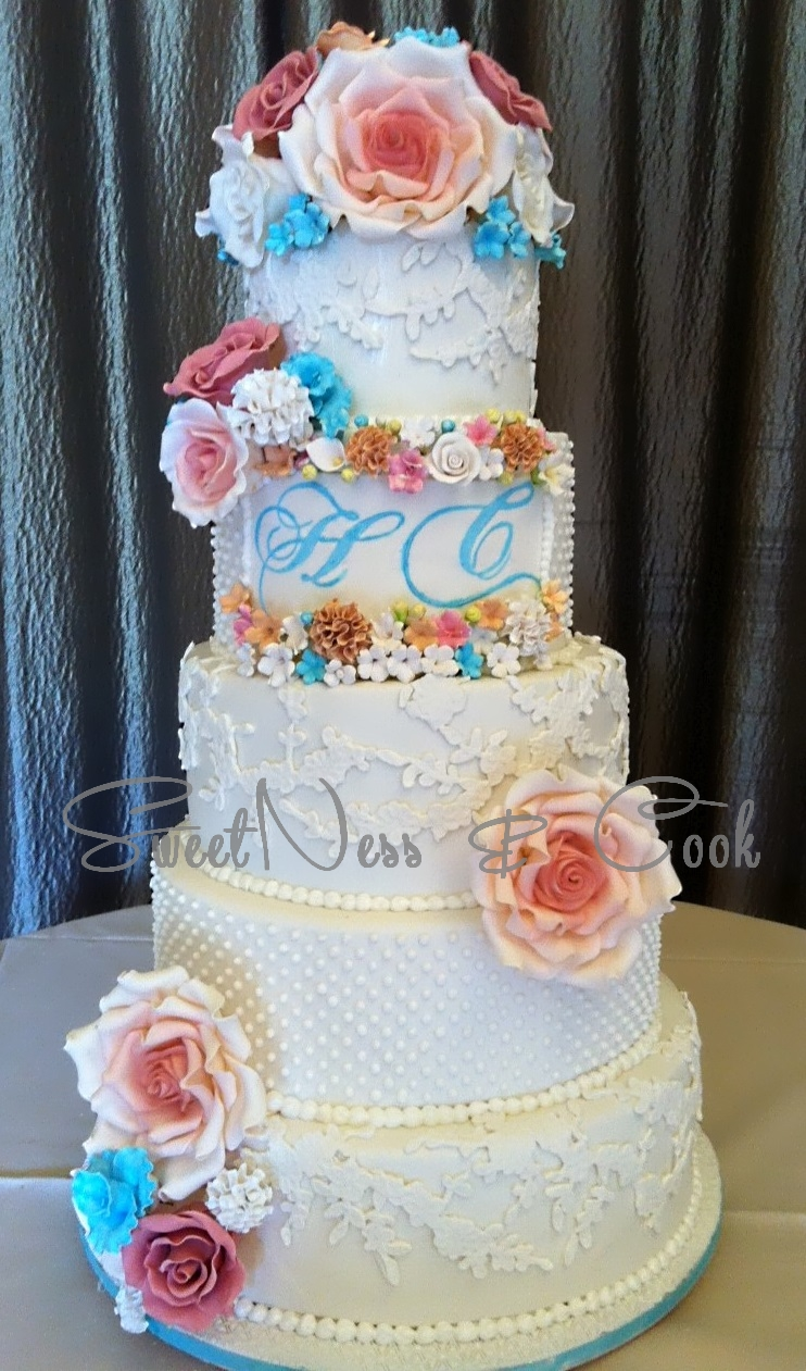 Wedding Cake pastel chic