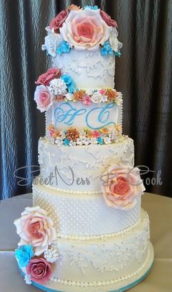 Wedding Cake pastel chic