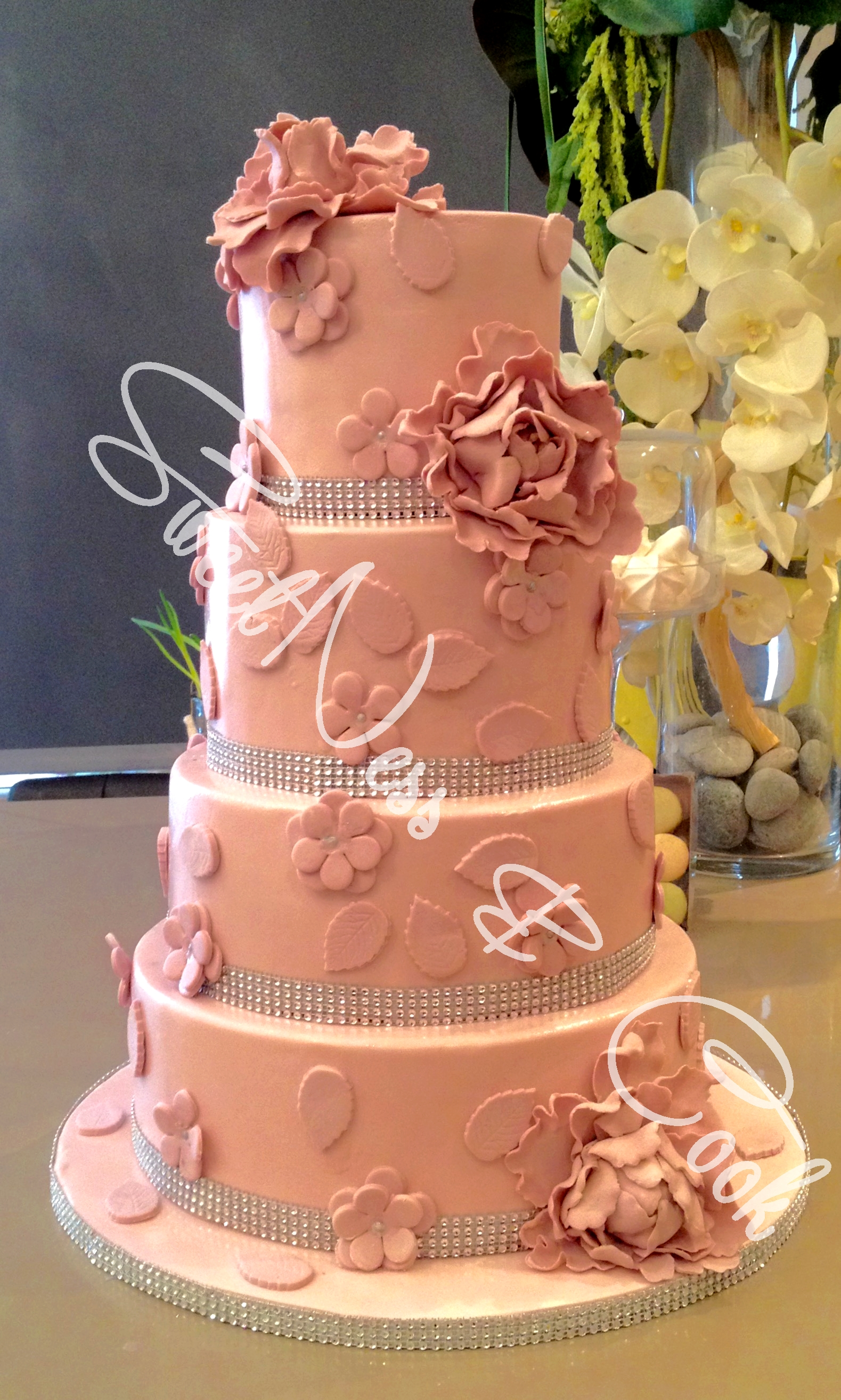 Wedding Cake Vintage vieux rose