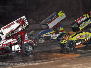 Great Lakes Family of Sprint Cars Unloads at Tri City Motor Speedway