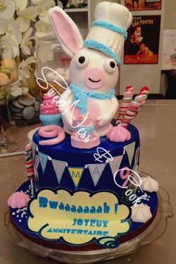 Cake Design Lapin Crétin