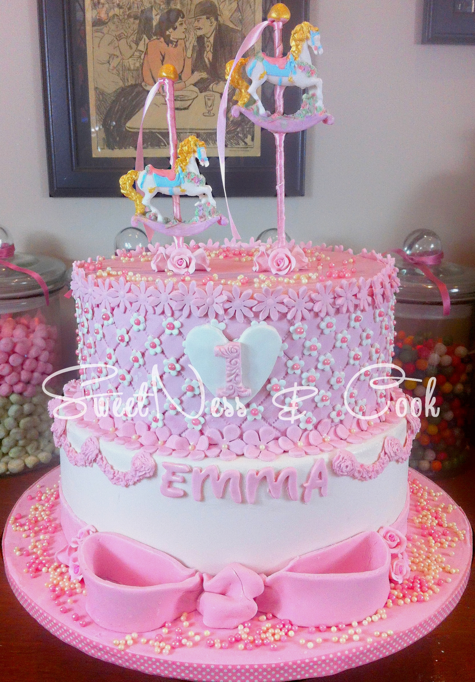 Cake Design Girly & Carrousel