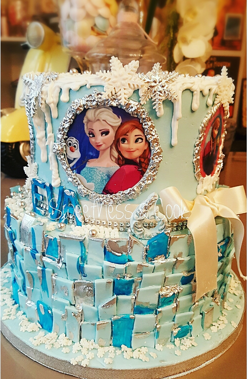 Cake Design Reine des neiges IV