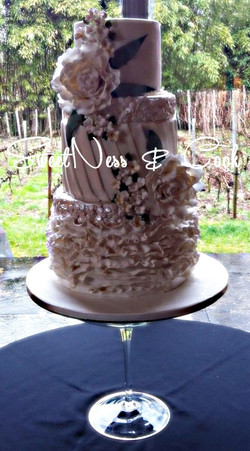 Wedding Cake pivoine et sequin