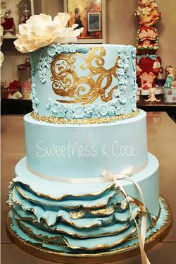 Wedding Cake Something Blue