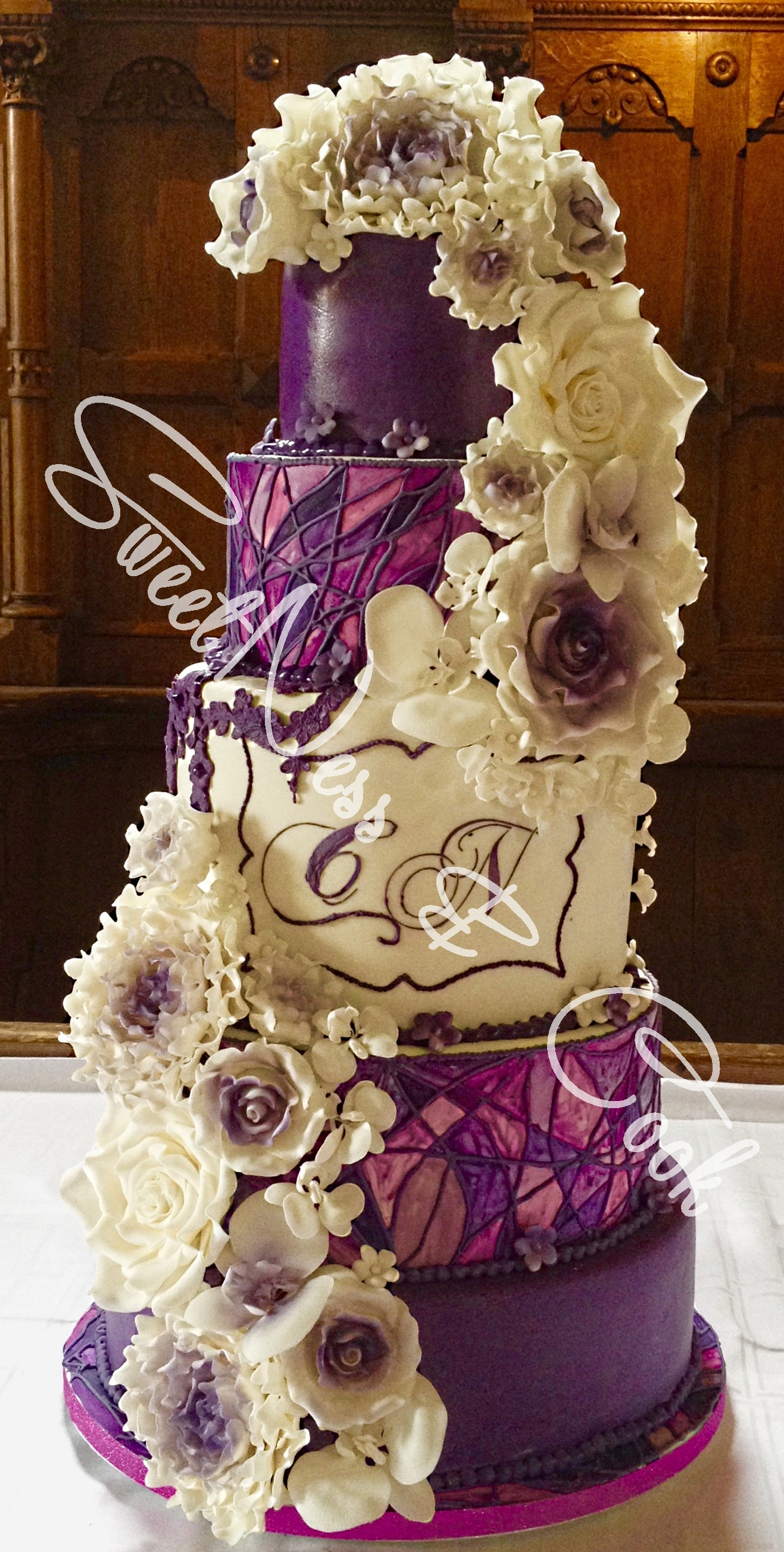 Wedding Cake Vitrail violet