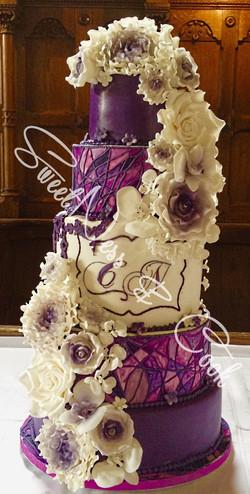Wedding Cake Vitrail violet