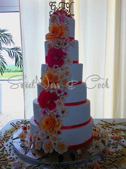 Wedding Cake fleurs des îles