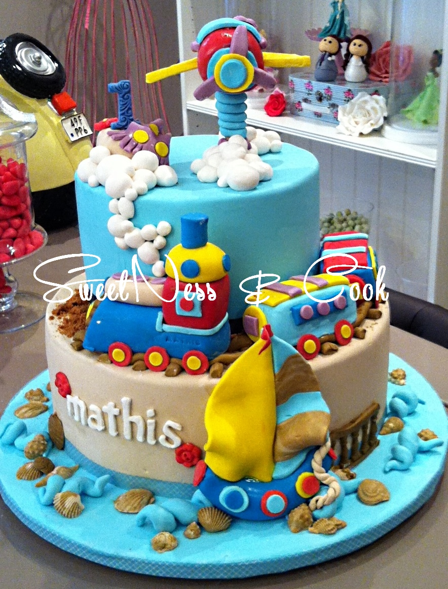 Cake Design train et avion