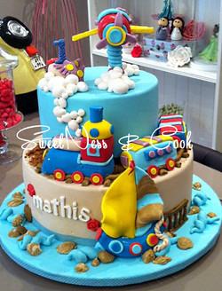Cake Design train et avion