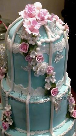Cake Design cage à oiseaux