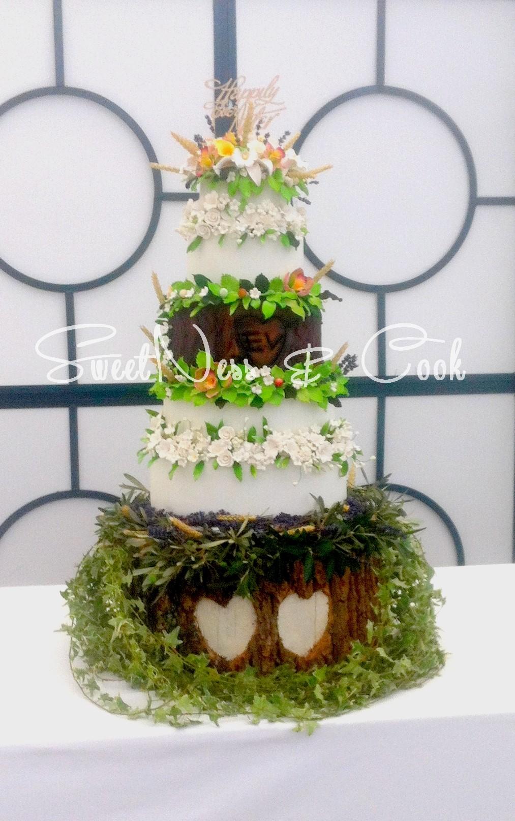 Wedding Cake nature Champêtre