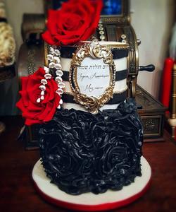Cake Design rosace noire
