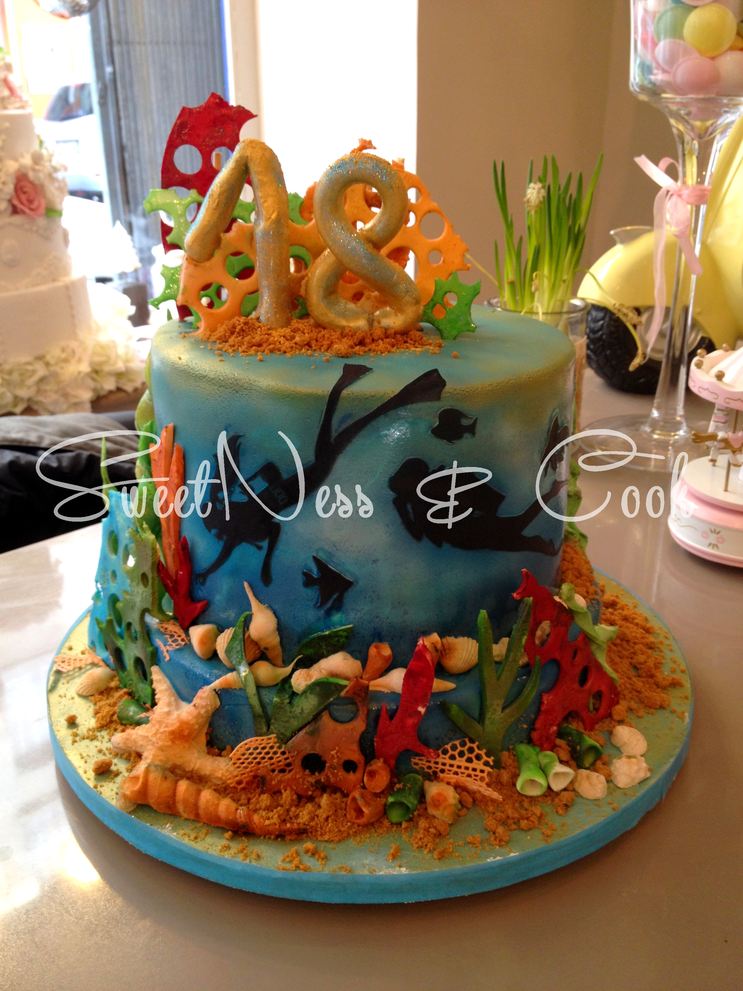 Cake Design Plongée sous-marine