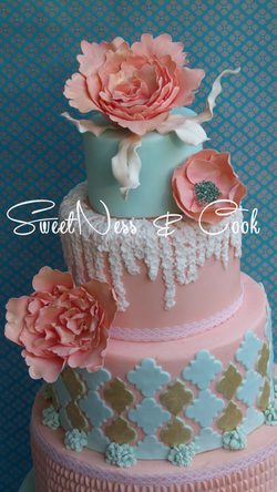 Wedding Cake bohème chic