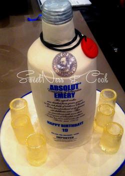 Cake Design Absolut Vodka
