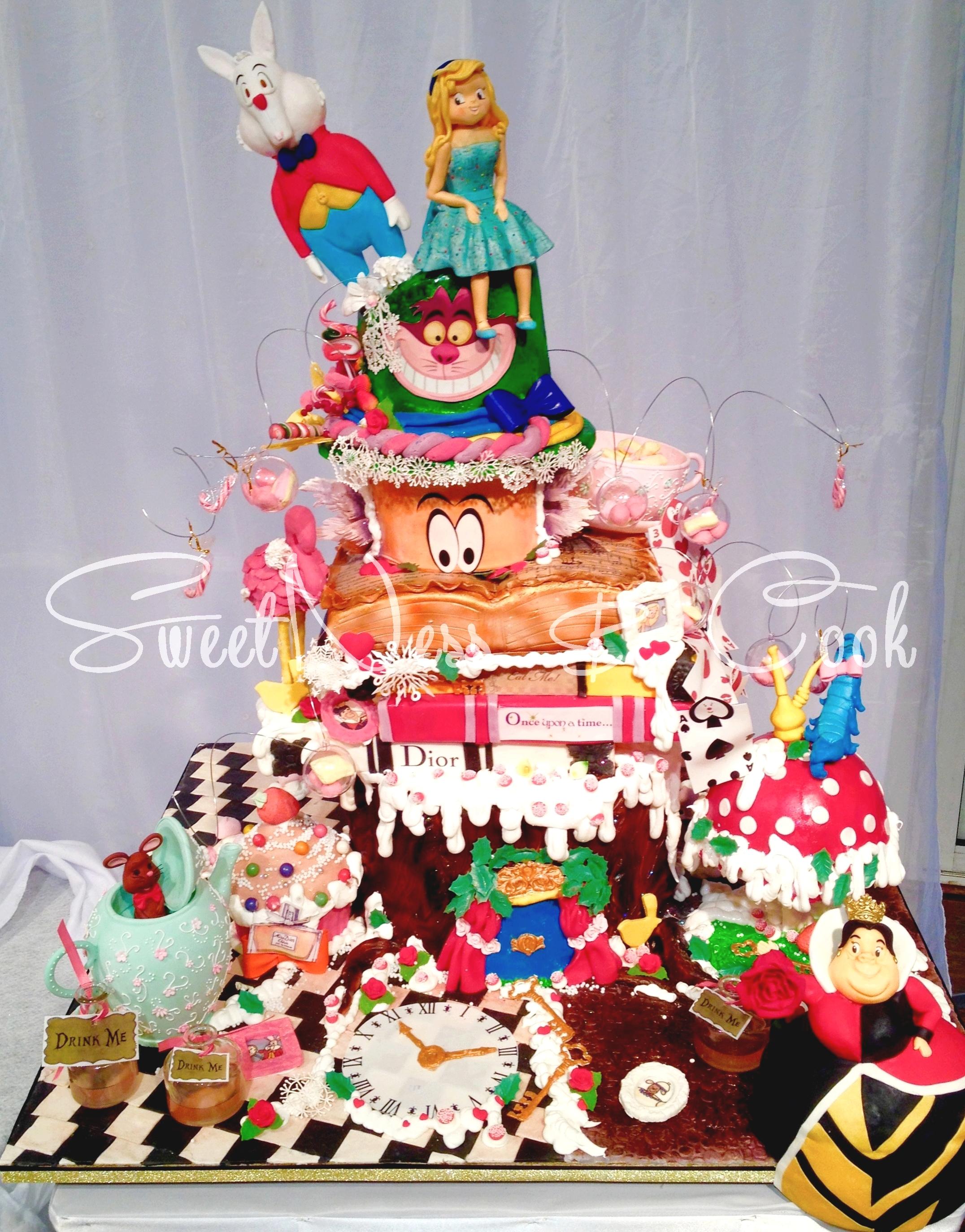 Cake Design Alice en hiver
