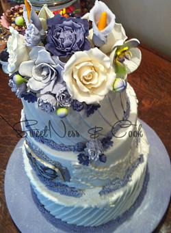 Wedding Cake lavande champêtre