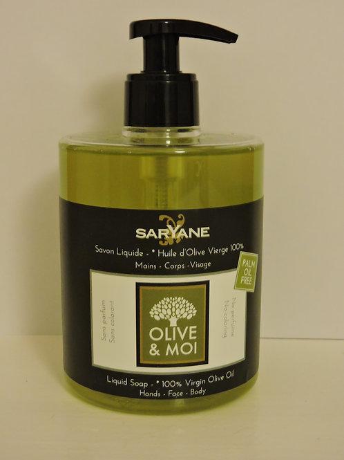 Savon Liquide Huile d'Olive 100% 0.5l - Saryane
