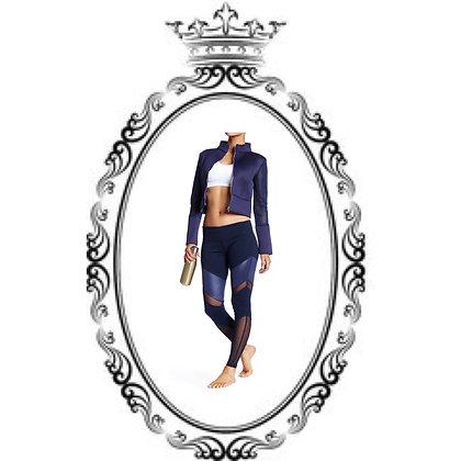 Royal cropped top/yoga pants