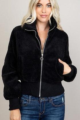 Plush black jacket