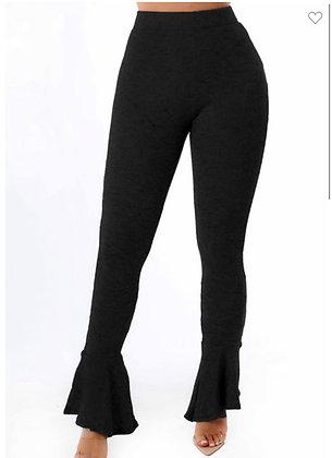 Flare black stretch pants