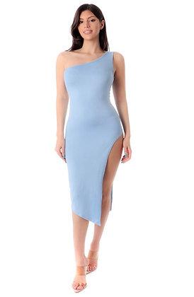 Baby blue split dress
