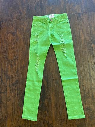 Neon denim green