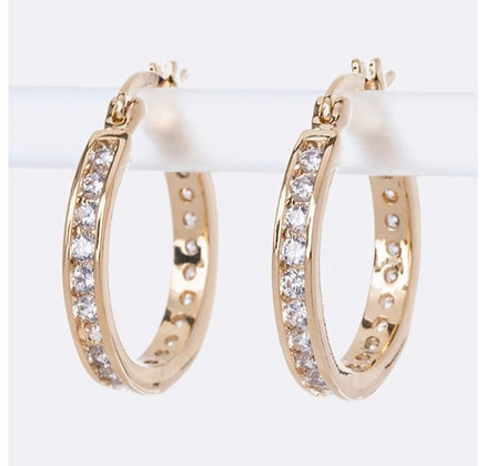 Gold mini round hoops