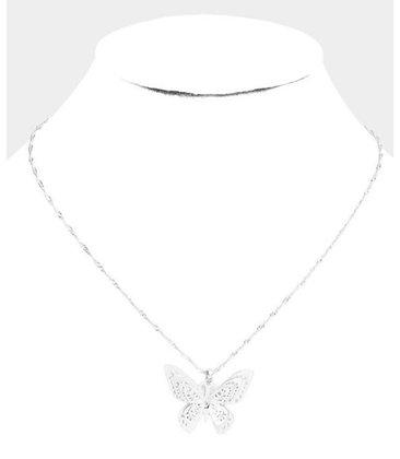 Single silver butterfly