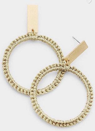 Gold twist hoops