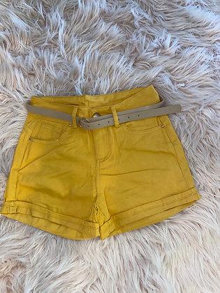 Mustard casual shorts