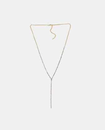 Gold y chain necklace