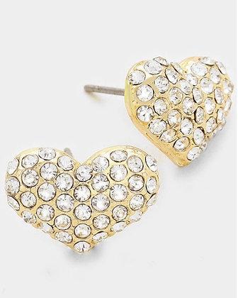 Gold rhinestone heart