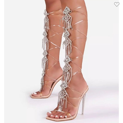 Bling strapped heels