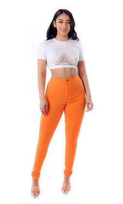 Orange denim