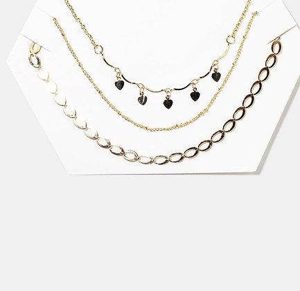 Three piece chain chocker set (silver)