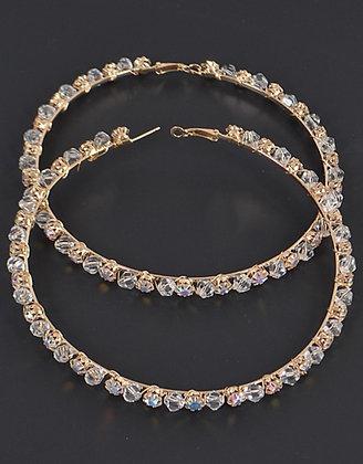 Jumbo silver holographic earrings