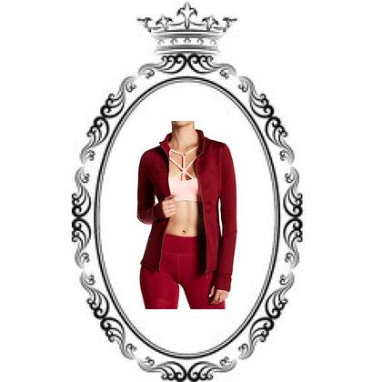 Epic red yoga jacket/mesh yoga pants