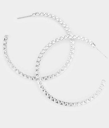 Silver basic hoop
