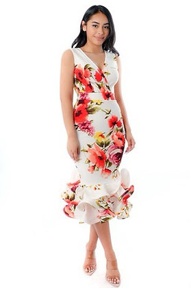 Flower ruffle dress