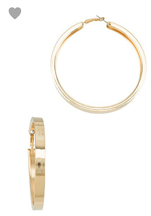 Thick gold metal hoops