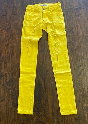Neon denim yellow