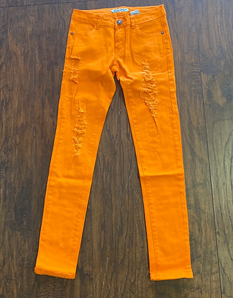 Neon denim orange