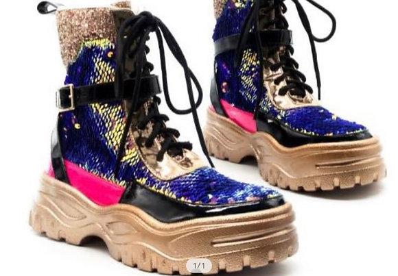 Sequin glitter shoe boot
