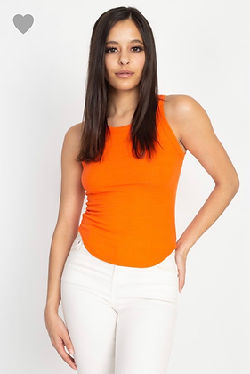 Basic orange tank top