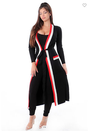 Cardigan style (jacket only)
