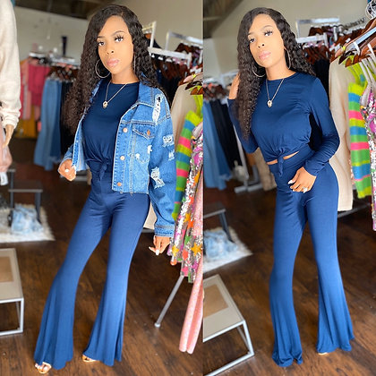 Act casual blue two piece set (only)